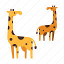 africa, animal, giraffe, safari, savannah, wild, wildlife icon