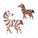 africa, animal, safari, savannah, wild, wildlife, zebra icon
