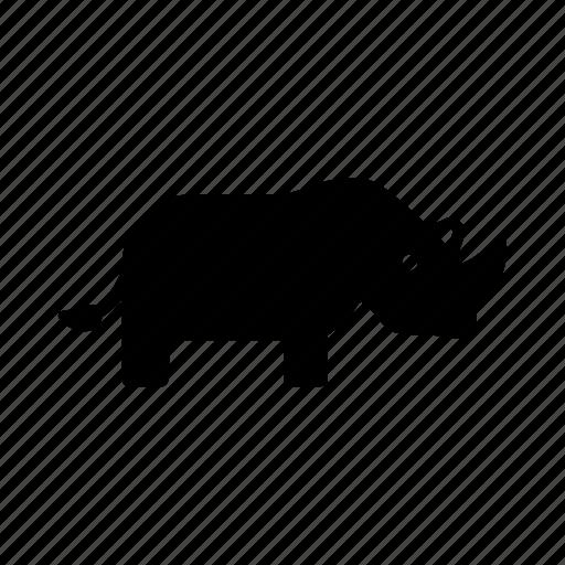 africa, animal, conservation, horn, rhino, rhinoceros, wildlife icon