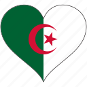 africa, algeria, flag, flags, heart icon