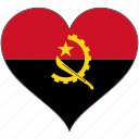 africa, angola, flag, flags, heart icon