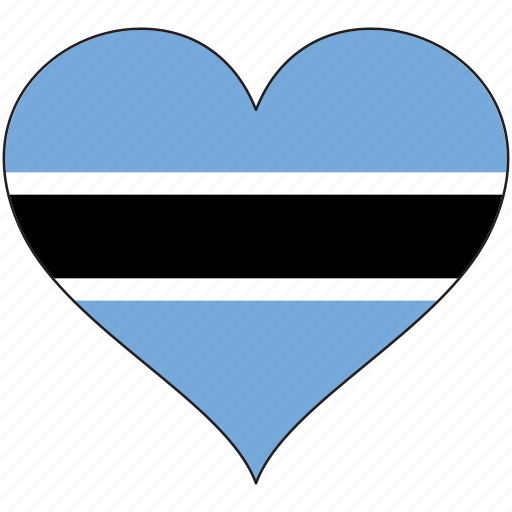 africa, botswana, flag, flags, heart icon