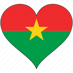 africa, burkina faso, flag, flags, heart icon