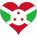 africa, burundi, flags, heart, flag