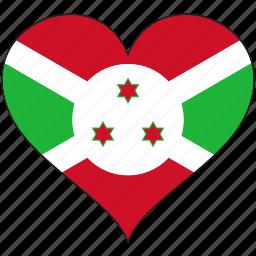 africa, burundi, flag, flags, heart icon