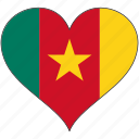 africa, cameroon, flag, flags, heart icon