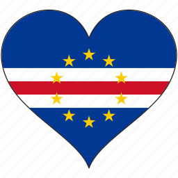 africa, cape verde, flag, flags, heart icon