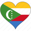 africa, comoros, flag, flags, heart icon