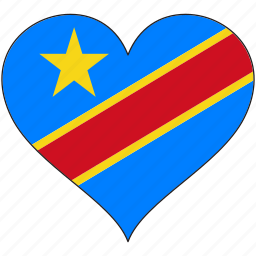 africa, democratic republic of the congo, flag, flags, heart icon