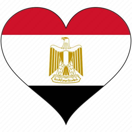 africa, egypt, flag, flags, heart icon