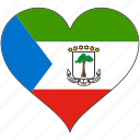 africa, equatorial guinea, flags, heart, flag
