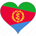 africa, eritrea, flag, flags, heart icon