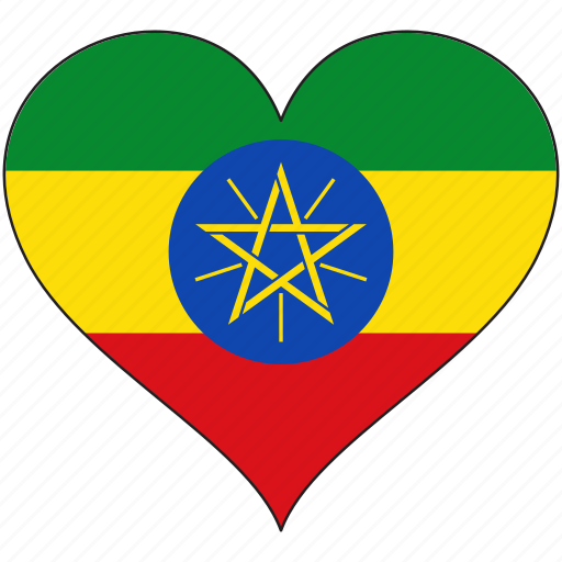 Africa, ethiopia, flags, heart, flag icon - Download on Iconfinder