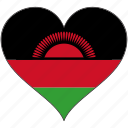 africa, flags, heart, malawi, flag