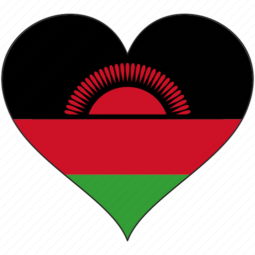 africa, flag, flags, heart, malawi icon