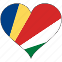 africa, flag, flags, heart, seychelles icon