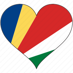 africa, flag, flags, heart, seychelles icon