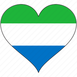 africa, flag, flags, heart, sierra leone icon