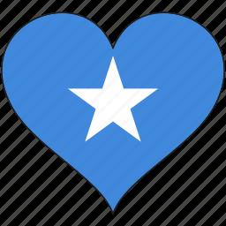 africa, flag, flags, heart, somalia icon