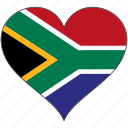 flags, heart, south africa, flag