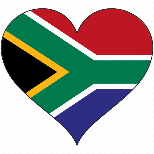 flag, flags, heart, south africa icon