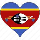 africa, flags, heart, swaziland, flag