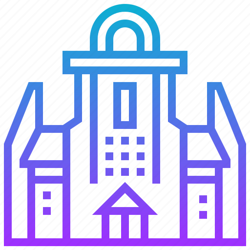 building, constantia, groot, landmark icon