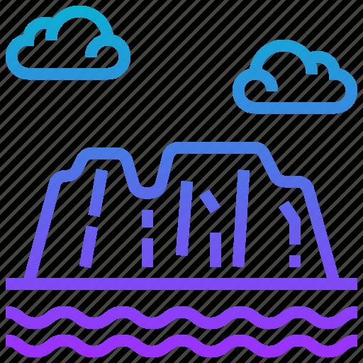africa, cloud, landscape, mountain icon
