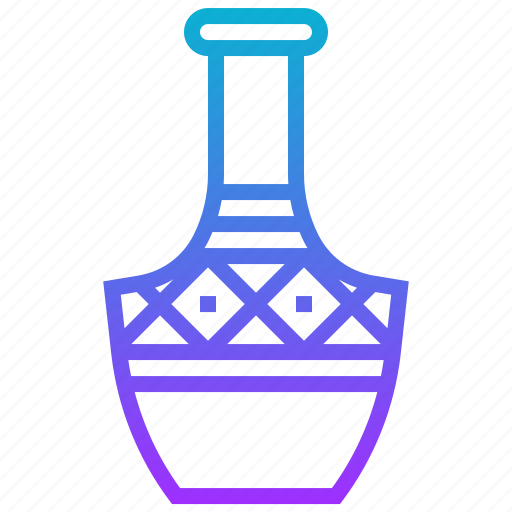 africa, earthenware, jar, vase icon