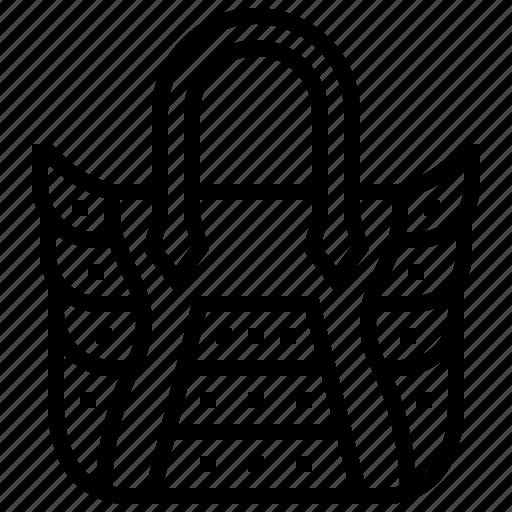 african, bag, crocodile, leather icon