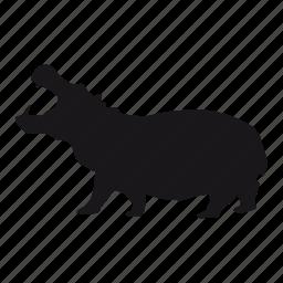 hipopótamo, hippo, zoo icon