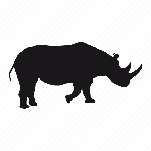 rhino, rhinoceros, zoo icon