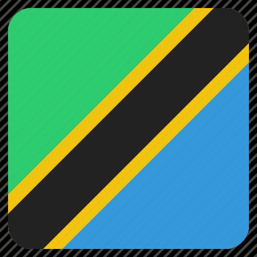country, flag, national, tanzania, tanzanian icon