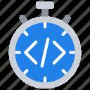 agile, coding, scrum, time, timer icon