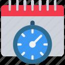 agile, calendar, deadlines, scrum, timer icon