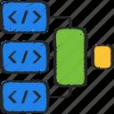 agile, dependencies, development, scrum, software icon