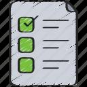 agile, checklist, document, list, scrum, task icon