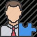 agile, architect, avatar, puzzle, scrum icon