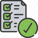 agile, checklist, completed, list, scrum, task icon