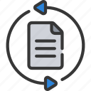 agile, document, loop, project, scrum icon