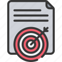 agile, document, goals, project, scrum, targets icon