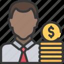 agile, avatar, holder, money, scrum, stake icon