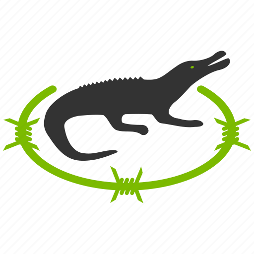 agriculture, alarm, alligator, animal, caution, country, crocodile, damage, danger, dragon, error, exclamation, farm, farmer, farming, hazard, important, information, national, nature, pet, problem, prompt, risk, safe, safety, signal, warning, wildlife, zoo icon