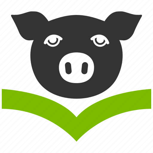 agriculture, animal, animals, book, education, farm, knowledge, library, notebook, paper, pig, piggy, school, science, text, veterinary icon