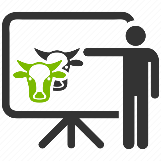 agriculture, animal, animals, bull, chart, cow, diagram, farm, farming, livestock, presentation, report, statistics icon