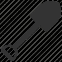 peel, scoop, shovel, spade, tool, trowel, work icon