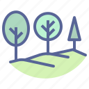 landscape, nature, scenery, trees icon