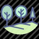 landscape, nature, scenery, trees