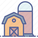 barn, silo, storage, storehouse icon
