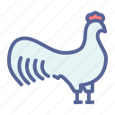 bird, cock, poultry, rooster icon